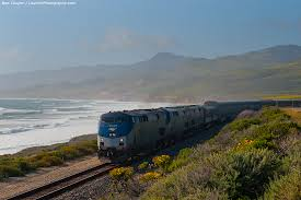 California travel by train images Amtrak 39 s coast starlight traveling along the california coast jpg