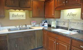 Painted Wooden Kitchen Cabinets Kitchen Cabinets Painted Black Cabinets With Faux Distressing