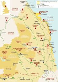map of rothbury northumberland tourist map search britain