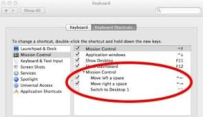how to disable keyboard shortcuts for switching spaces in mac os x