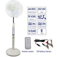 Pedestal Fan Remote 16 U201d Rechargeable Pedestal Fan W Remote U2013 White Bk Miami