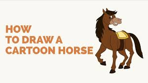 how to draw a cartoon horse easy step by step drawing tutorial