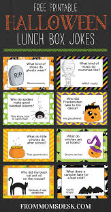 halloween jokes for kids printable lunch box notes from mom u0027s desk
