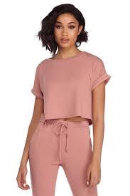 sale mauve essential soft pajama top