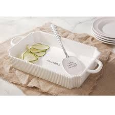 amazon com mud pie circa casserole set white kitchen u0026 dining