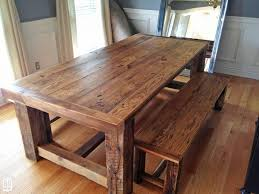 farmhouse dining table with bench u2014 farmhouse design and furniture