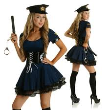 female cop halloween costume role play cop costume