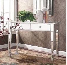 mirrored console table glam vanity mirror silver accent decor