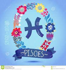 horoscope pisces zodiac sign stock vector image 44474159