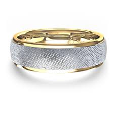 wedding rings with images Unique men 39 s wedding ring in 14k two tone gold jpg
