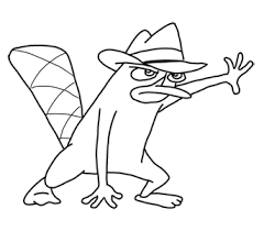 platypus coloring pages phineas and ferb coloring pages