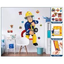 walltastic fireman sam sticker set