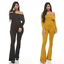 plus size black jumpsuits plus size ruffle sleeve bell bottom black yellow jumpsuit