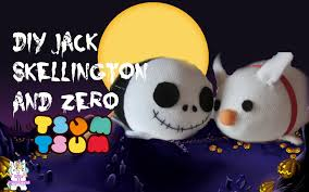 diy jack skellington and zero tsum tsums tiny sparkles youtube