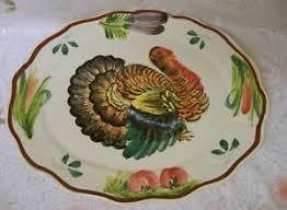 turkey platters thanksgiving painted thanksgiving turkey platter italy ebay