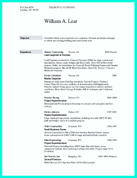Resume For Construction Job by Resume Sample For Construction Worker Free Resume Example And