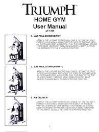 home gym manual u2013 guiler workout