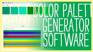 color palette generator software you have to see this youtube
