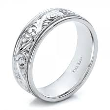 wedding rings men engraved men s wedding band kirk kara 100671