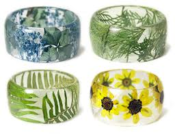 handmade flower bracelet images New handmade resin bracelets embedded with flowers and plants by jpg