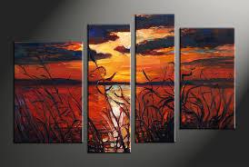 Home Decor Wall Hangings 4 Piece Ocean Beach Wall Art
