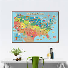 America World Map by Aliexpress Com Buy Creative World Map Of American Usa Sign Home