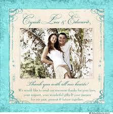 wedding thank you card messages wedding thank you card photo festive blue favorite