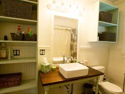 Wainscoting In Bathroom by Traditional 3 4 Bathroom With Wood Counters U0026 Wainscoting In