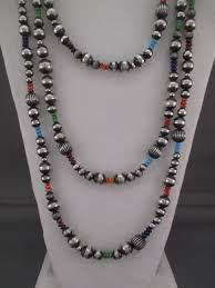 bead necklace long images Multi stone oxidized sterling silver bead necklace jewelry jpg