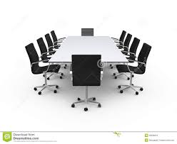 Office Furniture Table Meeting Conference Table And Office Chairs Royalty Free Stock Images