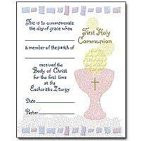 profession of faith certificate