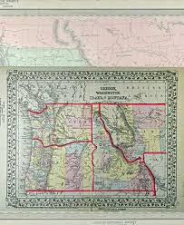 map of oregon country 1846 historic viewers oregon boundaries