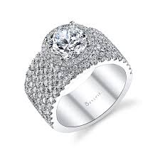 Halo Wedding Rings by Double Halo Engagement Rings Sylvie Collection