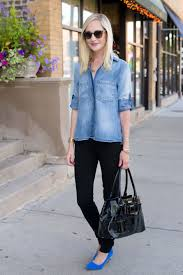 recreating the olivia palermo chambray look with bella dahl