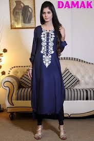 fancy damak designer casual wear winter dresses 2016 6