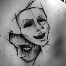 25 trending mask tattoo ideas on pinterest bipolar tattoo