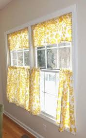 Checkered Kitchen Curtains Yellow Cafe Curtains For Kitchen Diy Yellow Checkered Kitchen