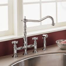 bridge faucets for kitchen culinaire bridge kitchen faucet american standard