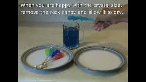 how to grow rock candy or sugar crystals youtube