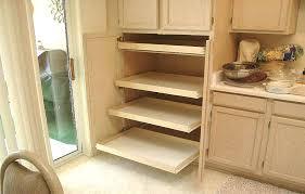 Kitchen Cabinet Pull Out Shelf  Ribadoltecom - Sliding kitchen cabinet shelves