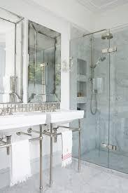 Bathroom Neutral Colors - bathroom brown wooden frame mirror bathroom elegant bathroom