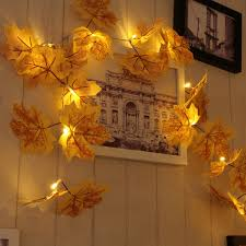 led christmas tree string lights maple pattern for home decoration