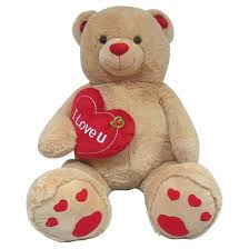 valentines teddy bears jumbo valentines teddy with i you heart target