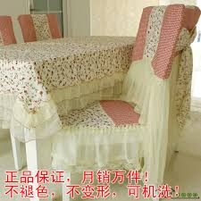 quality cloth dining table cloth dining chair set cushion back