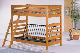 Bunk Bed With Futon Wood Roselawnlutheran - Wood bunk bed with futon