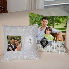 personalized pillow custom printed burlap pillows with photos and text winkflash