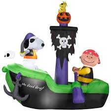 peanuts airblown inflatables animated airblown peanuts pirate ship