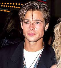 mans old fashion haircut parted down middle this is a picture of brad pitt during the 90 s hairstyles for men