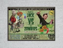 A Birthday Invitation Card Zombie Birthday Invitations Kawaiitheo Com