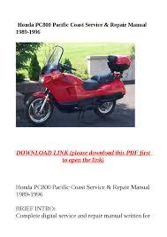honda pc800 pacific coast service u0026 repair manual 1989 1996 by